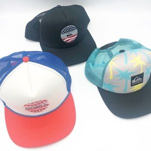 Quicksilver & O'Neil Surf Hats • Bundle of 3